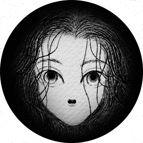 穴から見てる人