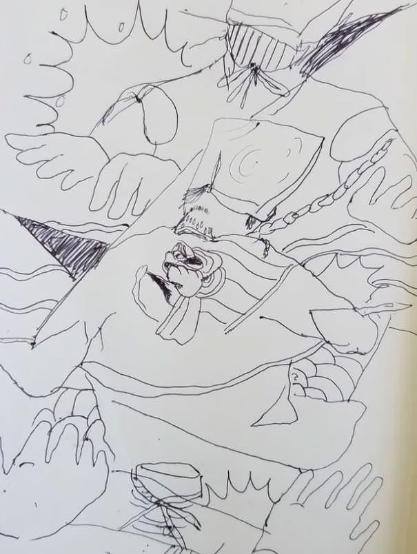 女木島住吉神社大祭のドローイング